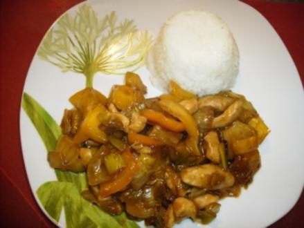 Thai-Hähnchen-Süß-Scharf - Rezept