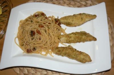 Pangasisusfilet mit einer leckeren Spaghettipfanne - Rezept