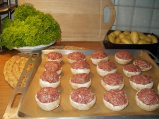frikadellen im champignonmantel oder einfach berbackene champignons rezept. Black Bedroom Furniture Sets. Home Design Ideas