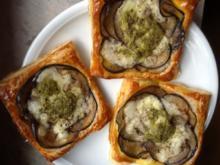 Auberginen-Tartelettes mit Parmaschinken - Rezept