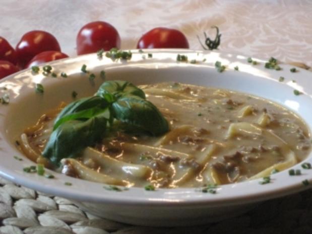 Hackfleisch-Spätzle-Suppe mit Waldpilzgeschmack - Rezept - Bild Nr. 2