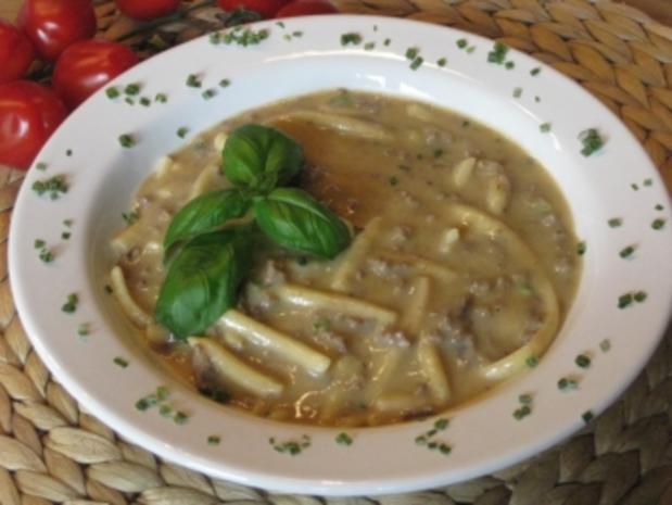 Hackfleisch-Spätzle-Suppe mit Waldpilzgeschmack - Rezept - Bild Nr. 3