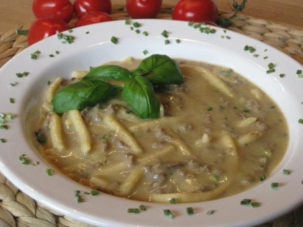 Hackfleisch-Spätzle-Suppe mit Waldpilzgeschmack - Rezept - Bild Nr. 9