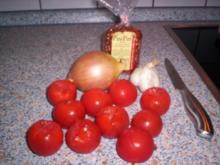 Feurige Tomaten-Chili-Fondue-Soße - Rezept