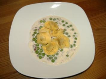 Rezept: Tortellini in Käse-Sahnesoße