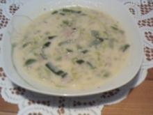 Käse Lauch Suppe mit Hackfleisch - Rezept