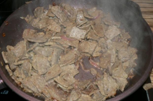 Kebabpfanne wie ich sie mag mit Rohkostsalat - Rezept