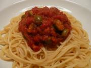 Spagetti alla Puttanesca - Rezept
