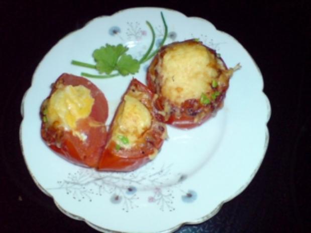 Eier in Tomate - Rezept