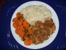 Schweinefilet mit Reis und Karottengemüse - Rezept