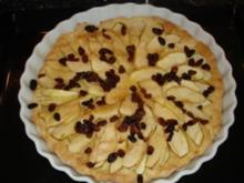 Kuchen: Apfel-Tarte mit Sonnenblumenkernen - Rezept