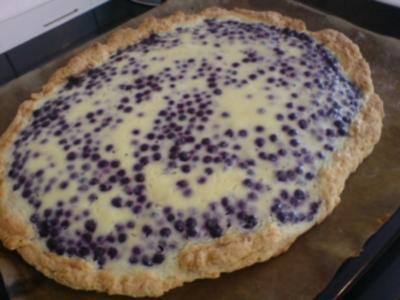 Heidelbeer-Saure Sahne-Kuchen - Rezept