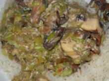 Reis mit Pilz - Lauch - Gemüse - Rezept