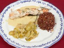Zopf von Edelfisch an Wildfenchelsoße, Lauchgemüse und rotem Reis - Rezept