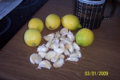 Kalkablösung mit Knoblauch und Zitrone - Rezept