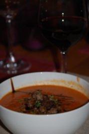 Tomatensuppe mit Hackfleisch - Rezept