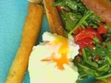 Rauke-Salat mit wachsweichen Eiern - Rezept