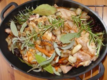 Fleisch- Gerichte : Barbaras Kaninchen - Rezept