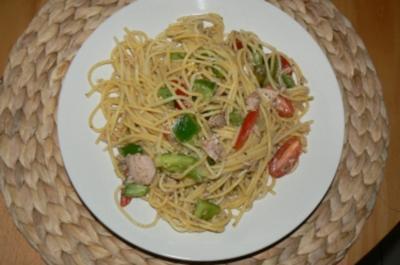 Spaghettisalat mit Thunfisch - Rezept