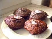 Schokomuffins - Biscuite juste cuit au chocolat - Rezept