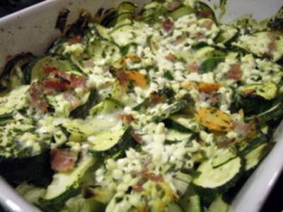 Schlanker Zucchiniauflauf mit Cottage Cheese - Rezept