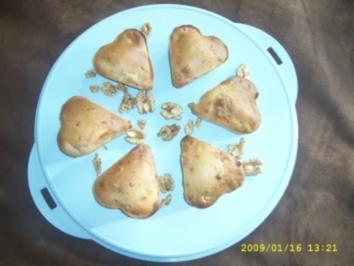 Walnuß Herz - Muffins - Rezept