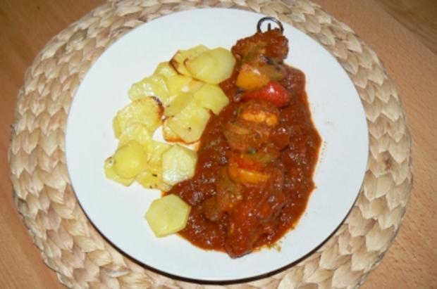 Mein Schaschlik - wie ich es mag tomatig und pikant - Rezept