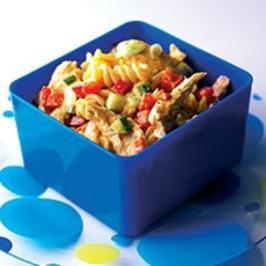 Pasta mit Curry-Huhn - Rezept
