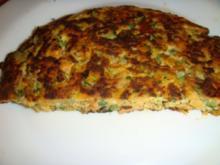 Zucchini Möhren Omelett - Rezept