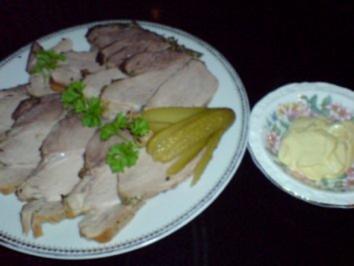 Kalter Schweinebraten mit Senfsauce - Rezept