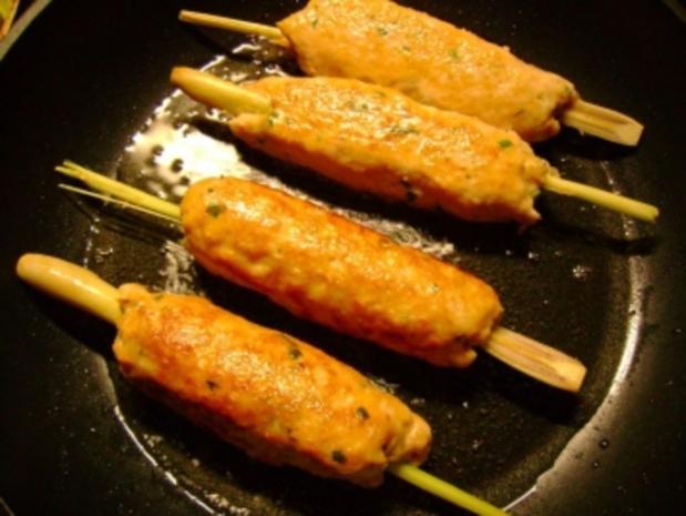 Geflügel: Chili Hähnchenspieße mit Ananas Dip - Rezept - Bild Nr. 2