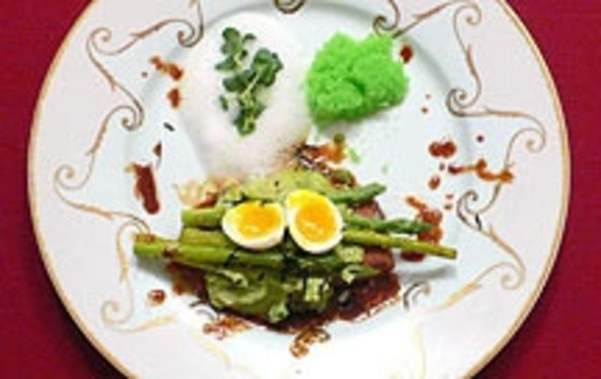 Lachs mit Avocadomousse und Thaispargel - Miss Salmon meets Mr Asparagus - Rezept Von Einsendungen Das perfekte Dinner