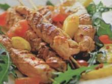 Fleischspieße mit Rucola-Salat - Rezept