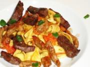 Pasta mit Kalbsleber und Kalbsfleisch - Rezept