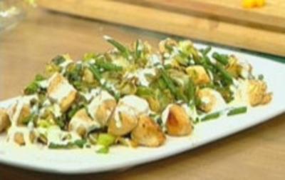 Gebratener Spitzkohlsalat - Rezept