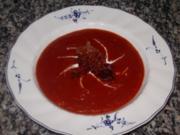 Tomatensuppe mit Speck - Rezept