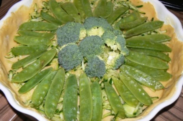 Grüne Gemüsetarte - Rezept