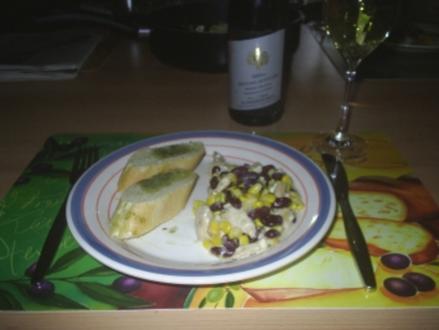 Geflügel - Mexikanische Hähnchen-Mais-Pfanne - Rezept