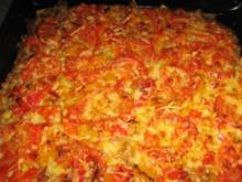 Deftiger Blechkuchen mit Hackfleisch und Gemüse - Rezept