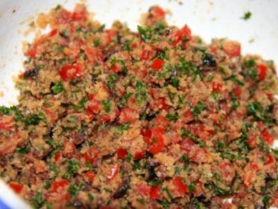 Mediterranes auf Rotbarsch - Rezept