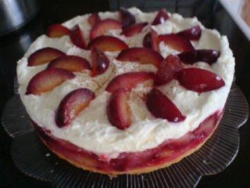 Pflaumen-Mascarpone-Torte - Rezept