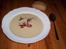 Mais-Cremesuppe mit knusprigen Speckstreifen - Rezept