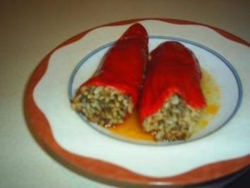 Dolma (gefüllte rote Paprika) - Rezept