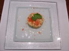 Lachstartar mit Camparikaviar und Zitronenbutter - Rezept
