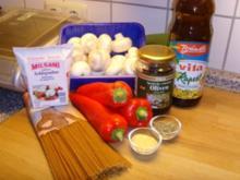 Für Trennkostfreunde ....Nudeln mit Paprika – Pilz- Soße… - Rezept