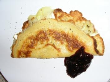 Camembert-Pfannkuchen - Rezept