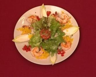 Kaisergranatschwänze auf Salat der Saison (Bernard Hirtreiter) - Rezept