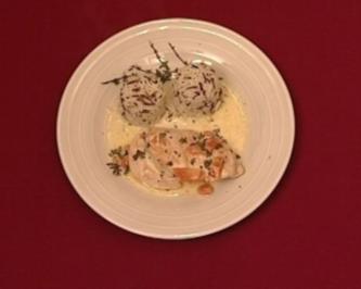 Hähnchenbrustfilet in Wermut-Sahne mit Wildreis (Bernard Hirtreiter) - Rezept