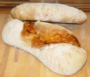 Ciabatta mit Schinken und Raclettekäse - Rezept