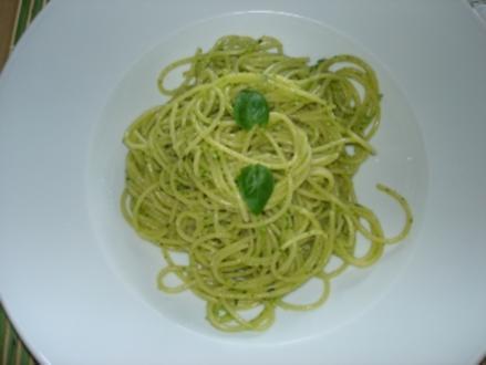 Spaghetti mit Pesto - Rezept